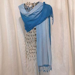 Blue ombre scarf/shawl